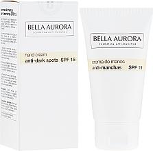 Profumi e cosmetici Crema mani anti-pigmento - Bella Aurora M7 Anti Dark Spots Hand Cream SPF15