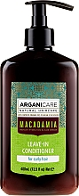 Profumi e cosmetici Balsamo indelebile per capelli ricci - Arganicare Macadamia Leave-In Conditioner