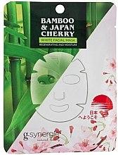 Profumi e cosmetici Maschera in tessuto - G-synergie Bamboo & Cherry White Face Mask