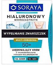 Profumi e cosmetici Crema viso rassodante - Soraya Hialuronowy Mikrozastrzyk Firming Cream 50+