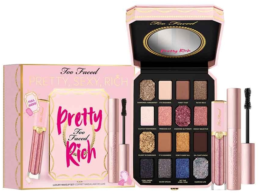 Set per trucco - Too Faced Pretty, Sexy, Rich Makeup Set (palette/5.2g+mascara/8ml+lip/gloss/7g) — foto N1