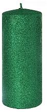 Profumi e cosmetici Candela decorativa, verde, 7x18 cm - Artman Glamour