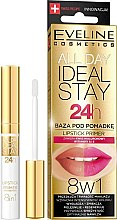 Profumi e cosmetici Primer labbra - Eveline Cosmetics All Day Ideal Stay Lipstick Primer