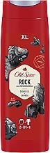 Profumi e cosmetici Shampoo-gel doccia 2in1 - Old Spice Rock With Charcoal Shower Gel + Shampoo