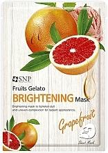 Profumi e cosmetici Maschera viso illuminante con estratto di pompelmo - SNP Fruits Gelato Brightening Mask