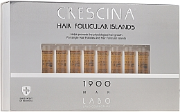 Profumi e cosmetici Lozione stimolante per la crescita dei capelli, per uomo 1900 - Crescina Hair Follicular Islands Re-Growth 1900