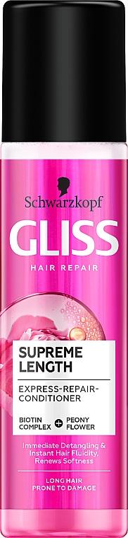 Condizionante capelli intensamente rigenerante - Schwarzkopf Gliss Kur Supreme Length Conditioner