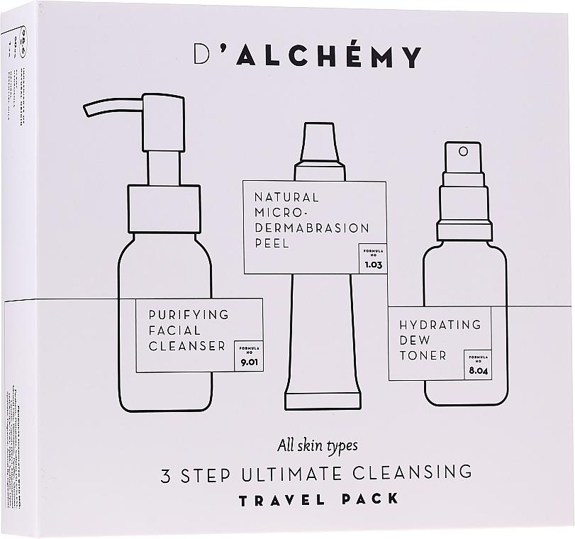 Set - D'Alchemy 3 Step Ultimate Cleansing Travel Pack (toner/30ml + f/cleanser/50ml + f/peel/15ml)