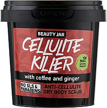 "Profumi e cosmetici Scrub corpo anticellulite con caffè e zenzero ""Cellulite Killer"" - Beauty Jar Anti-Cellulite Dry Body Scrub"
