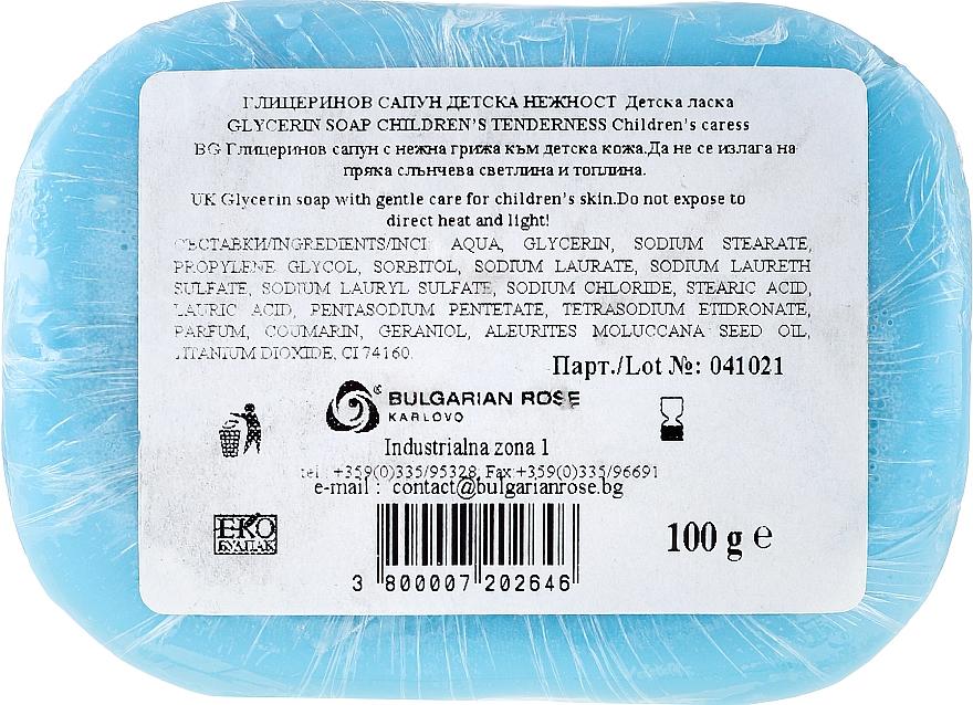 "Sapone alla glicerina ""Baby carezza"" - Bulgarian Rose Glycerin Fragrant Soap Blue Angel — foto N3"