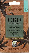 Profumi e cosmetici Maschera per pelli secche e sensibili - Bielenda CBD Cannabidiol Moisturizing & Soothing Mask