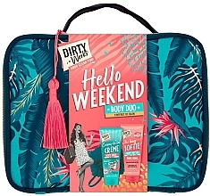Profumi e cosmetici Set - Dirty Works Hello Weekend Pamperbag (b/wash/200ml + b/butter/200ml + bag)