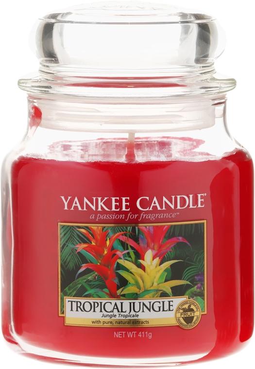 Candela profumata con contenitore in vetro - Yankee Candle Tropical Jungle