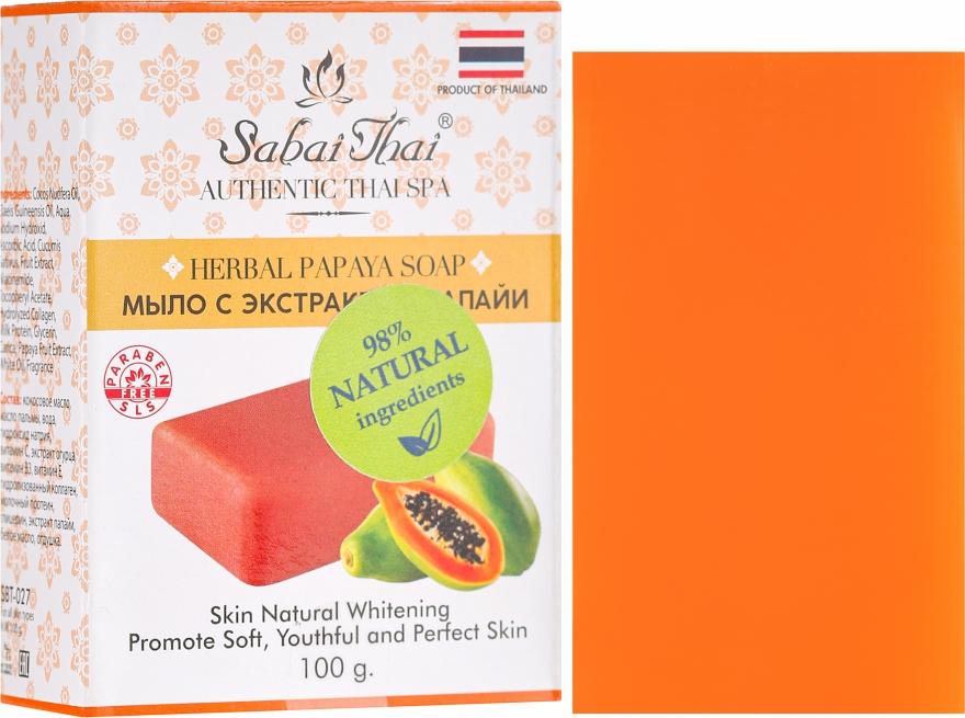 Sapone con estratto di papaia - Sabai Thai Herbal Papaya Soap