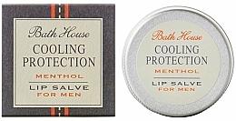 Profumi e cosmetici Balsamo labbra per uomo - Bath House Cooling Protection Menthol Lip Salve