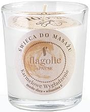 "Profumi e cosmetici Candela da massaggio in bicchiere ""Caramello levigante"" - Flagolie Caramel Smoothing Massage Candle"