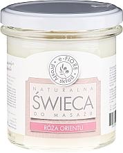 """Profumi e cosmetici Candela profumata per massaggio """"Oriental rose"""" - E-Fiore Massage Candle"""