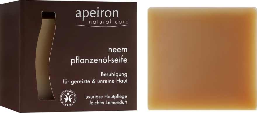 Sapone naturale al miele indiano per pelli problematiche - Apeiron Neem Plant Oil Soap — foto N1