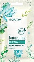 Profumi e cosmetici Maschera in tessuto levigante - Soraya Naturalnie Mask