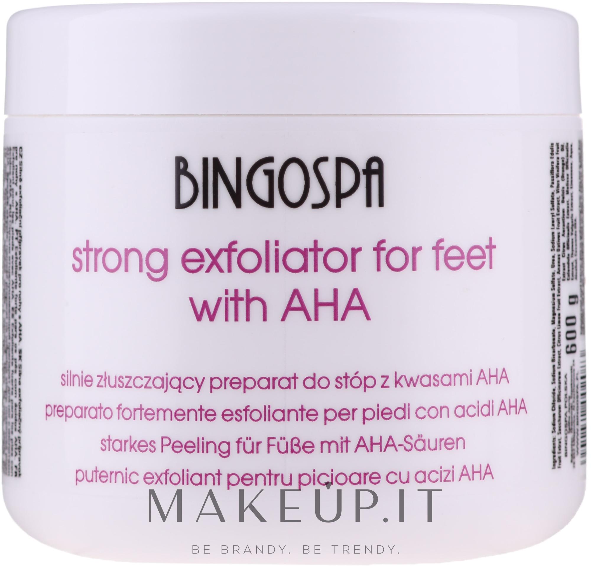 Esfoliante potente per piedi - BingoSpa Strong Exfoliant for Feet with AHA — foto 600 g