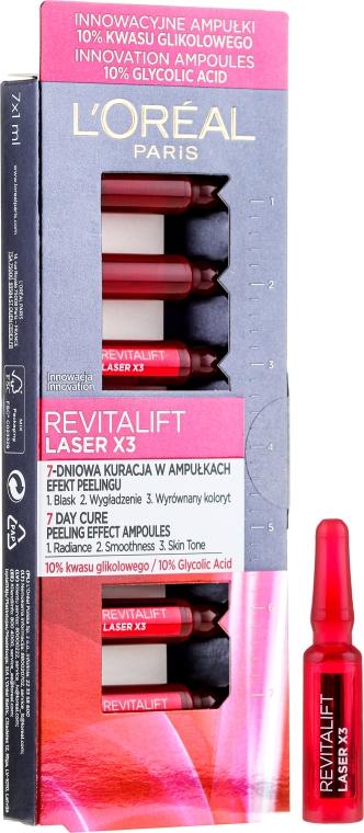 Prodotto cosmetico per la pelle del viso con effetto peeling - L'Oreal Paris Revitalift Laser X3