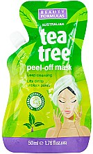 Profumi e cosmetici Maschera viso - Beauty Formulas Tea Tree Peel-Off Mask