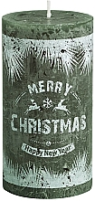 Profumi e cosmetici Candela cilindrica, verde, 130/68 mm - Bolsius Merry Christmas Candle