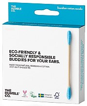 Profumi e cosmetici Bastoncini di cotone di bambù - The Humble Co. Cotton Swabs Blue