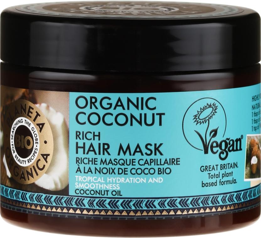 Maschera capelli idratante - Planeta Organica Organic Coconut Rich Hair Mask