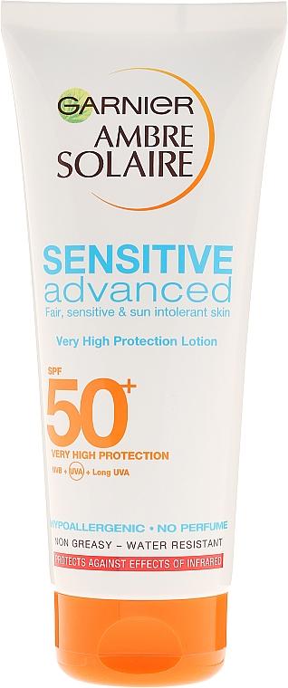 Lozione solare per pelli sensibili - Garnier Ambre Solaire Sensitive Advanced SPF 50+