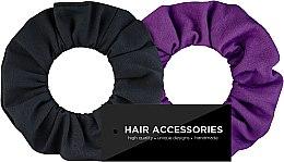 """Profumi e cosmetici Set di elastici """"Black & Violet"""" - MakeUp"""