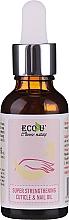 Profumi e cosmetici Olio rassodante per cuticole e unghie - Eco U Super Strengthening Cuticle & Nail Oil
