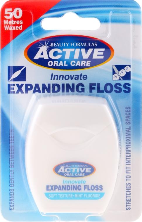 Filo interdentale con menta e fluoro - Beauty Formulas Active Oral Care Expanding Floss Mint With Fluor 50m