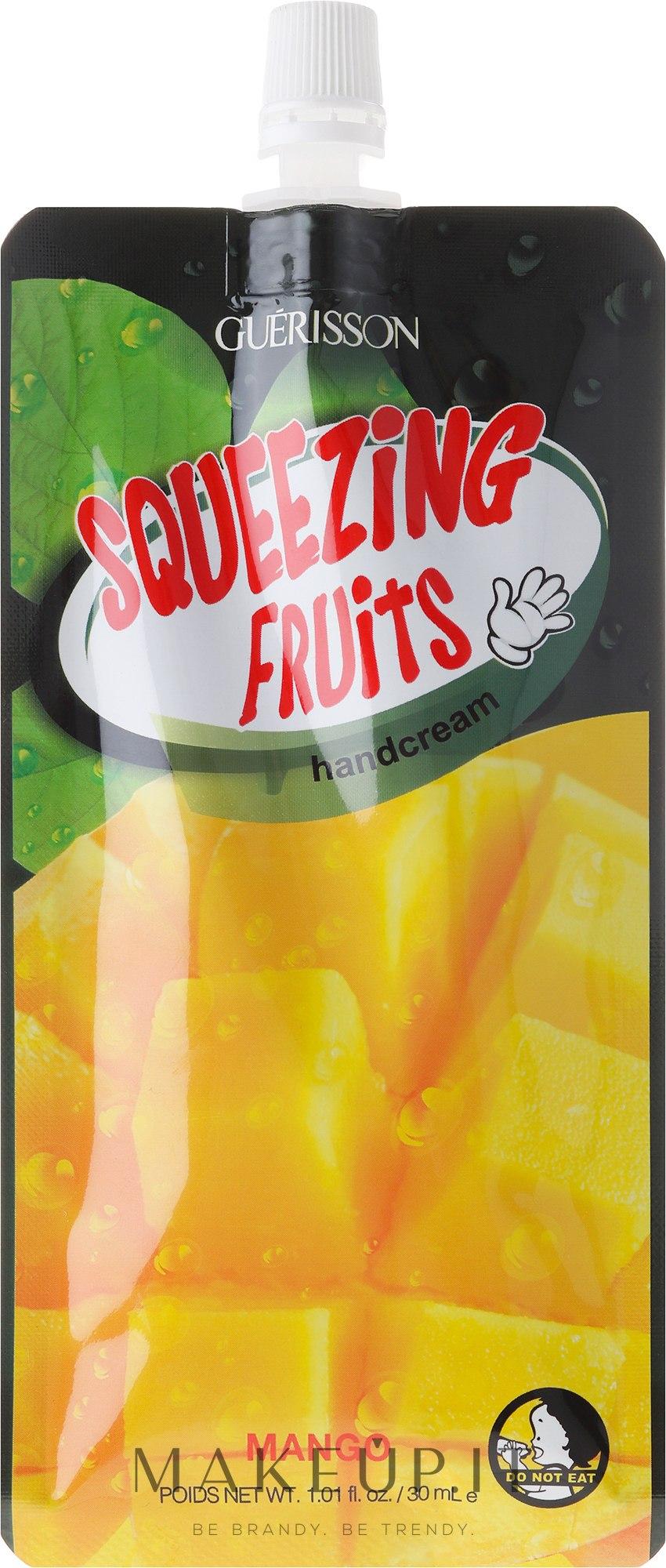 "Crema mani ""Mango"" - Guerisson Squeezing Fruit Hand Cream Mango — foto 30 ml"