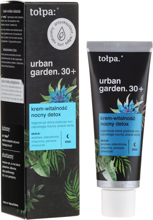 Crema viso, da notte - Tolpa Urban Garden 30+ Detox Night Cream