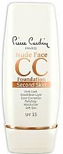 Profumi e cosmetici CC-Crema - Pierre Cardin Nude Face CC Foundation Second Skin SPF 15
