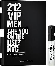 Profumi e cosmetici Carolina Herrera 212 VIP Men - Eau de toilette (probe)