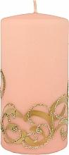 Profumi e cosmetici Candela decorativa, rosa con decorazione, 7x14 cm - Artman Christmas Ornament