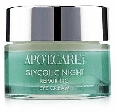 Profumi e cosmetici Crema contorno occhi rivitalizzante da notte - APOT.CARE Glycolic Night Eye Cream