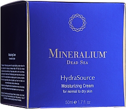 Profumi e cosmetici Crema idratante per pelli da normali a secche - Mineralium Dead Sea HydraSource Moisturizing Cream For Normal To Dry Skin