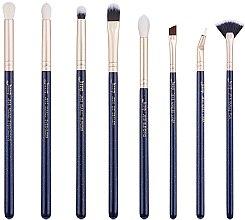 Profumi e cosmetici Set di pennelli trucco, T487, 8 pezzi - Jessup