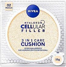 Profumi e cosmetici Cushion fondotinta - Nivea Hyaluron Cellular Filler 3in1 Care Cushion SPF 15