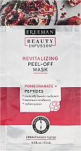 Profumi e cosmetici Maschera rigenerante viso - Freeman Beauty Infusion Revitalizing Peel-Off Mask Pomegranate + Peptides (mini)