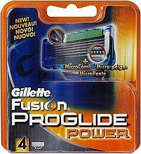 Profumi e cosmetici Lamette sostituibili, 4 pezzi - Gillette Fusion ProGlide Power