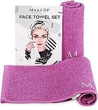 "Profumi e cosmetici Set asciugamani da viaggio, viola ""MakeTravel"" - Makeup Face Towel Set"