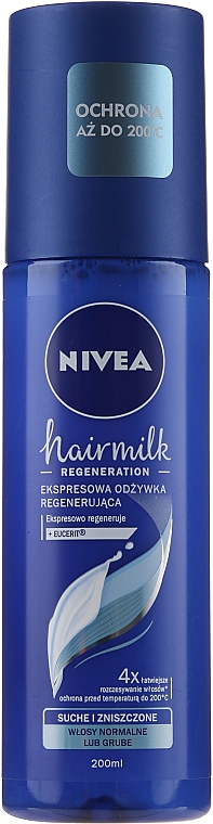 "Condizionante spray rigenerante per capelli normali ""7 Plus"" - Nivea Hairmilk Conditioner"