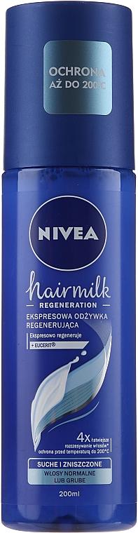 """Condizionante spray rigenerante per capelli normali """"7 Plus"""" - Nivea Hairmilk Conditioner"""