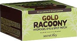 Profumi e cosmetici Patch contorno occhi - Secret Key Gold Racoony Hydrogel Eye Spot Patch