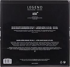 Montblanc Legend - Set (edt/100ml + ash/balm/100ml + edt/mini/7.5ml) — foto N2
