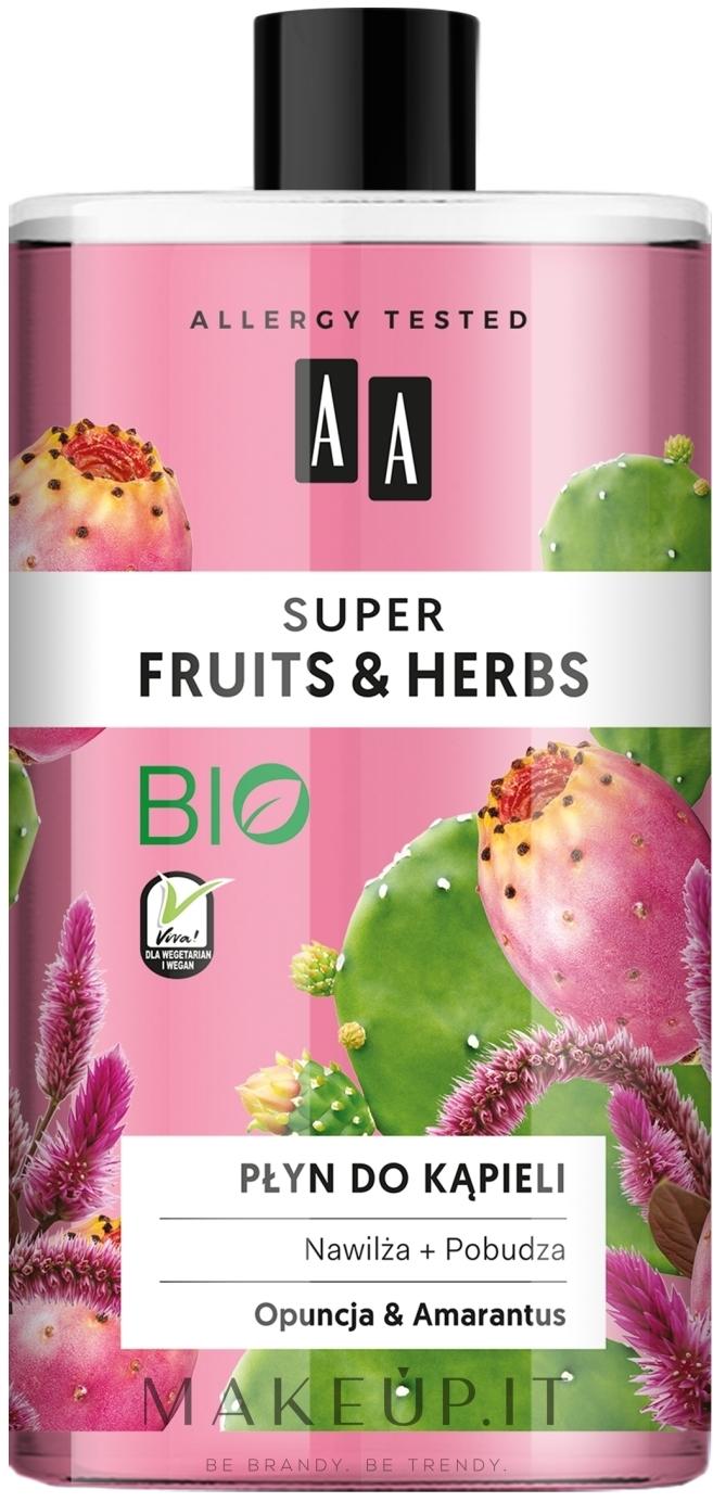 """Bagnoschiuma """"Opuntia e amaranto"""" - AA Super Fruits & Herbs Bath Foam — foto 750 ml"""